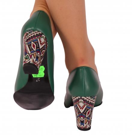 Pantofi din piele naturala 814 Timb Verde [2]