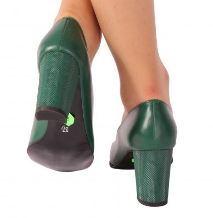 Pantofi din piele naturala 823 Verde [3]