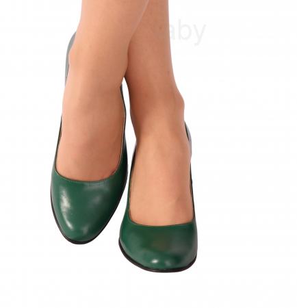 Pantofi din piele naturala 823 Verde [2]