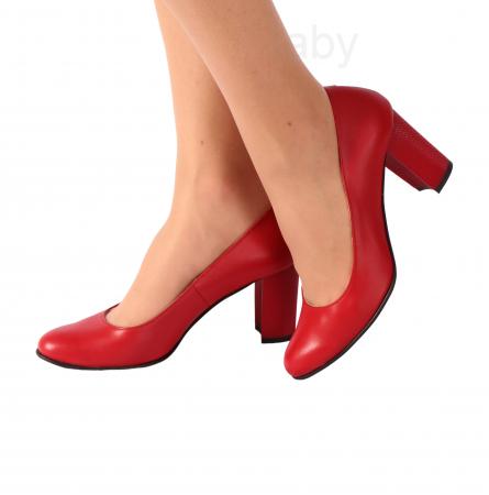 Pantofi din piele naturala 823 Rosu [0]