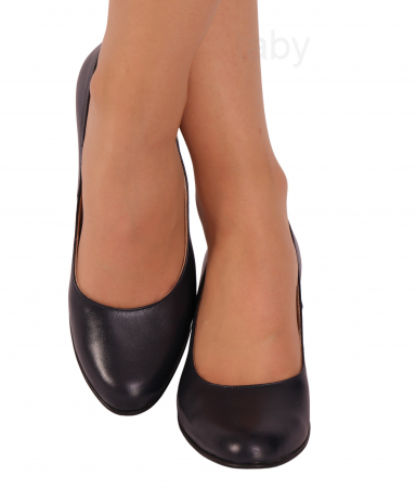 Pantofi din piele naturala 852 Negru [1]
