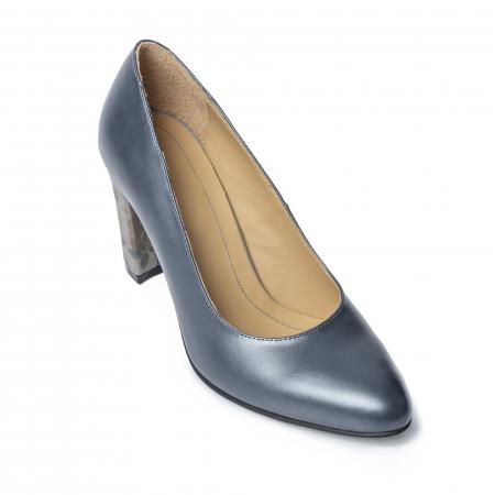 Pantofi din piele naturala Pasito Petrol [2]