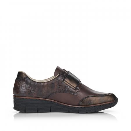 Pantofi din piele naturala Rieker 53750-25 Maro Inchis [2]
