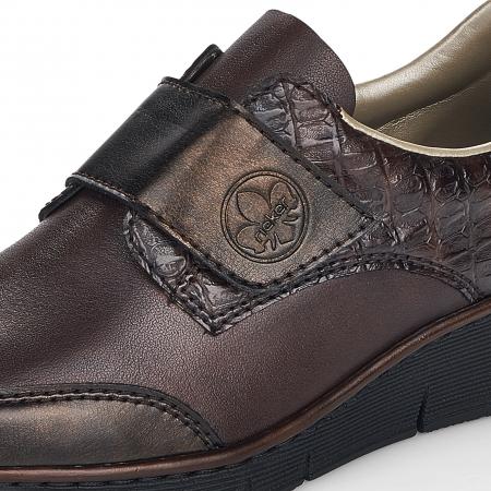 Pantofi din piele naturala Rieker 53750-25 Maro Inchis [10]