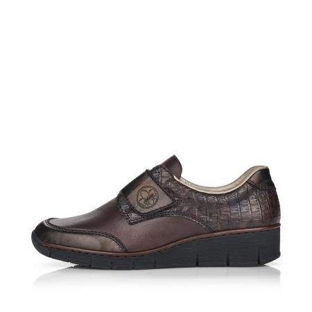 Pantofi din piele naturala Rieker 53750-25 Maro Inchis [5]