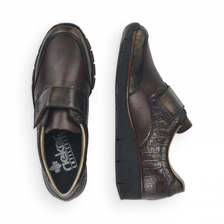 Pantofi din piele naturala Rieker 53750-25 Maro Inchis [8]