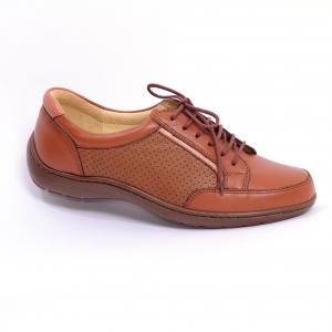 Pantofi piele Medline Confort 446 Maro2