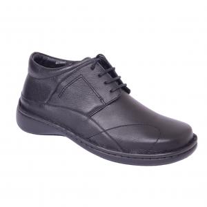 Pantofi piele Medline Confort 477 Negru1