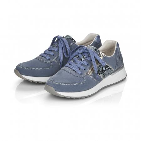 Pantofi sport din piele naturala Rieker N8024-102