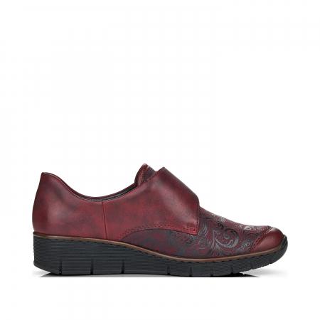 Pantofi din piele naturala Rieker 537C0-35 Visiniu [1]