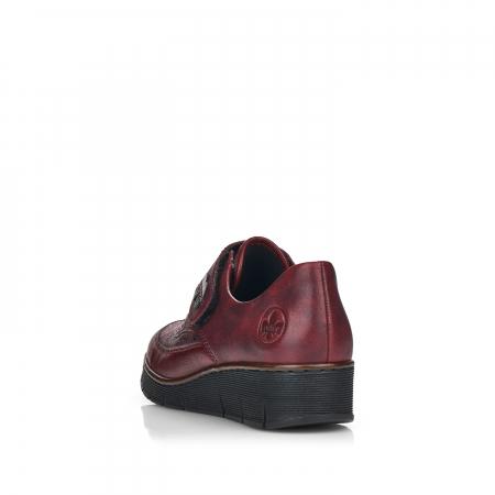Pantofi din piele naturala Rieker 537C0-35 Visiniu [2]