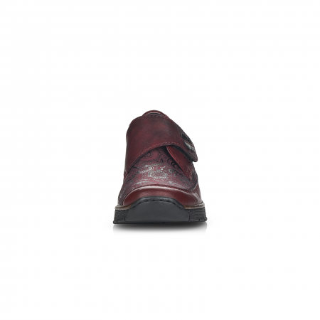 Pantofi din piele naturala Rieker 537C0-35 Visiniu [5]