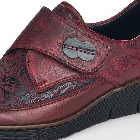 Pantofi din piele naturala Rieker 537C0-35 Visiniu [10]