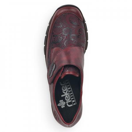 Pantofi din piele naturala Rieker 537C0-35 Visiniu [3]