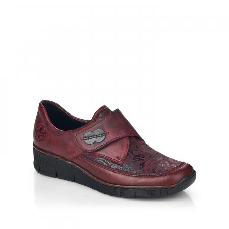 Pantofi din piele naturala Rieker 537C0-35 Visiniu [0]