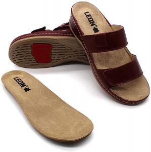 Papuci brant detasabil Leon 2020 Bordo1