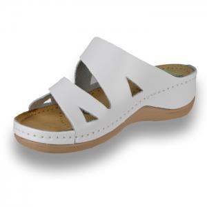 Papuci confortabili dama Leon 906 Alb [2]