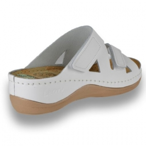Papuci confortabili dama Leon 906 Alb [3]
