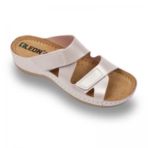 Papuci confortabili dama Leon 906 Perla0