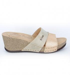 Papuci confortabili Fly Flot EXS0404 Bej0