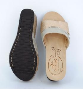 Papuci confortabili Fly Flot EXS0404 Bej2