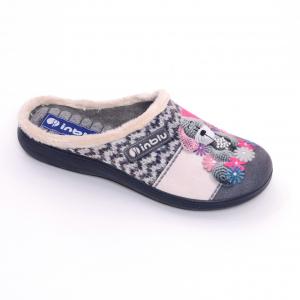 Papuci de casa Dama EC49 Grigio0