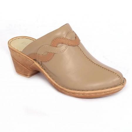 Papuci din piele naturala 202 maro0