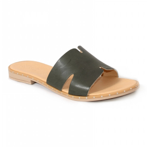 Papuci din piele naturala 254 Verde0