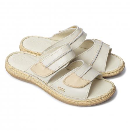 Papuci din piele naturala 314 Bej [0]