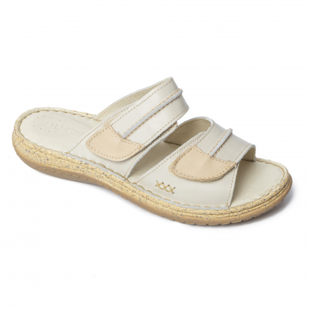 Papuci din piele naturala 314 Bej [1]