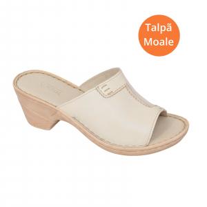 Papuci din piele naturala 315 Bej1