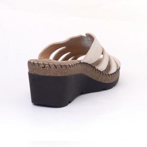 Papuci din piele naturala 6080 Gold1