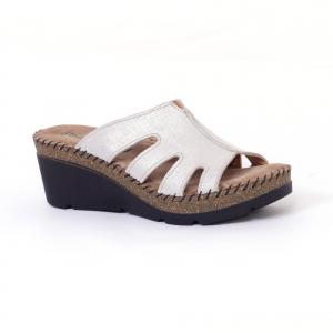 Papuci din piele naturala 6080 Grey0