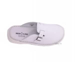 Papuci medicali barbati Medline 342 Alb2