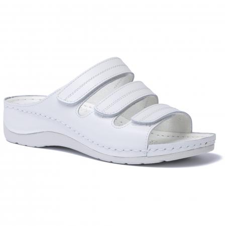 Papuci  din piele naturala 255 Alb [0]