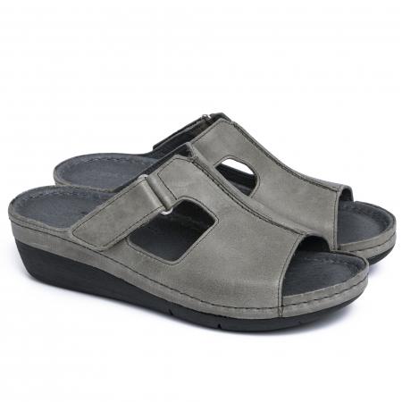 Papuci medicali din piele naturala 280 Gri1