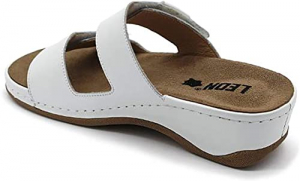 Papuci brant detasabil Leon 2020 Alb2
