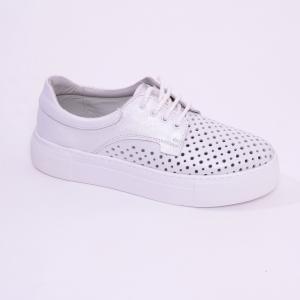 Pantofi casual dama 574 Alb Sidefat0