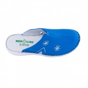 Saboti de piele Medline, Albastrii 2982