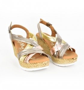 Sandale confortabile cu platforma EXS0658 Auriu2