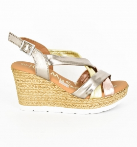 Sandale confortabile cu platforma EXS0658 Auriu1