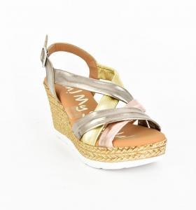 Sandale confortabile cu platforma EXS0658 Auriu0