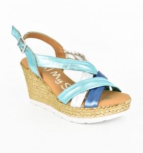 Sandale confortabile cu platforma EXS0658 Verde0