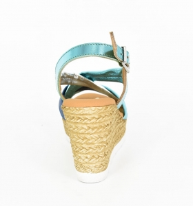 Sandale confortabile cu platforma EXS0658 Verde2