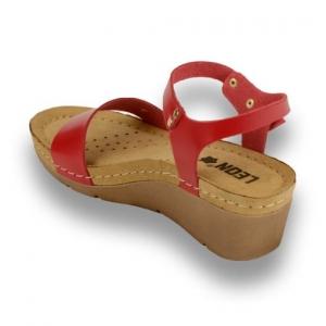 Sandale confortabile Leon 1015 Rosu2
