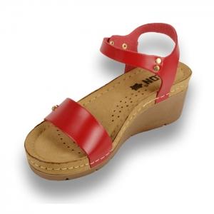 Sandale confortabile Leon 1015 Rosu1