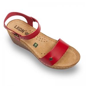 Sandale confortabile Leon 1015 Rosu0