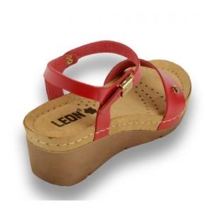 Sandale confortabile Leon 1015 Rosu3