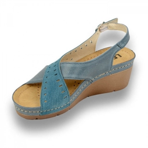 Sandale confortabile Leon 1030 Albastru1