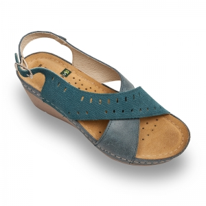 Sandale confortabile Leon 1030 Albastru0